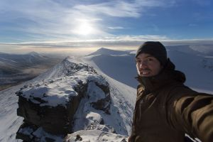 The summit! Trollstein, Svalbard