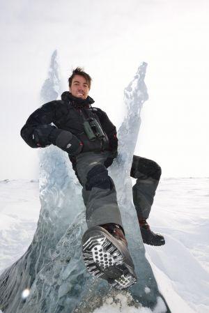 Chillin' on glacier ice, Mohnbukta, Svalbard