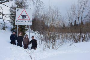 Team Lynx on their quest. Bieszczady, Poland