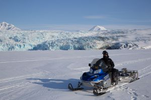Riding the sea ice, Nordenskoldsbreen, Svalbard